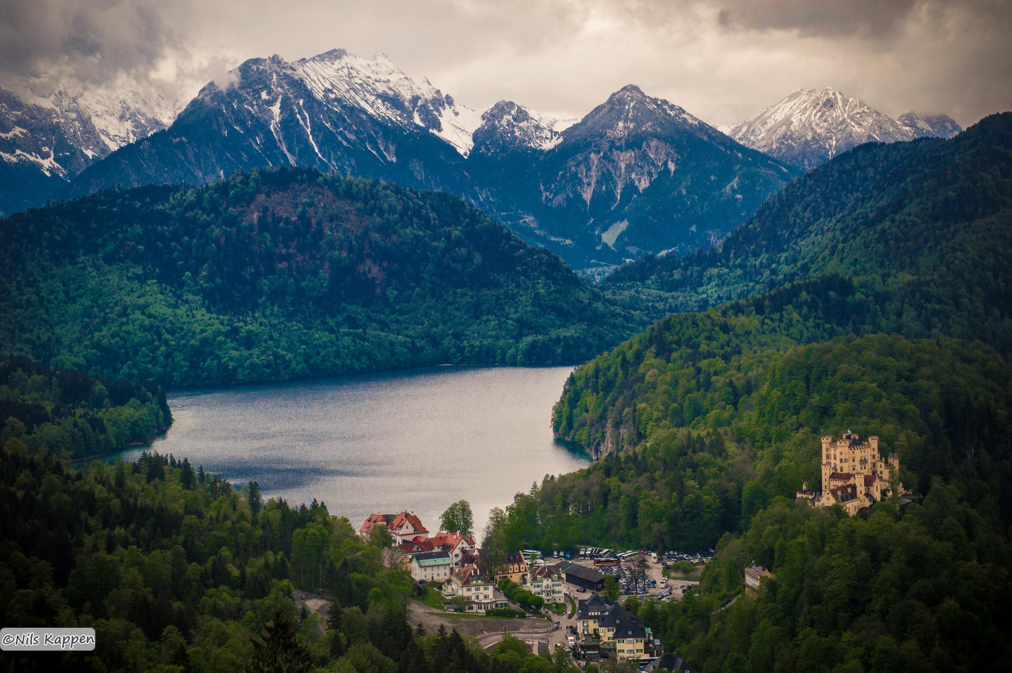 Blick von Schloss Neuschwanstein