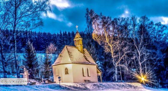Blaue Stunde - Winterfotografie