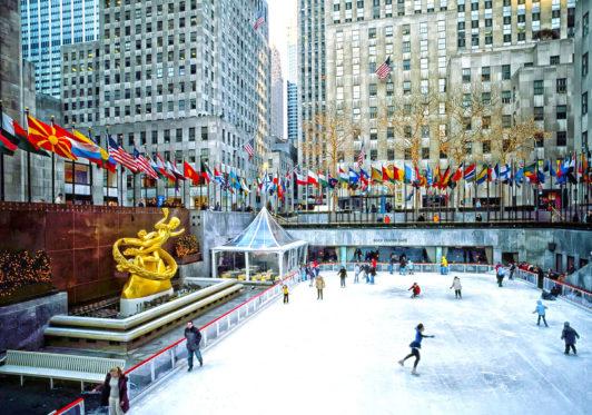 Eisbahn vor dem Rockefeller Center