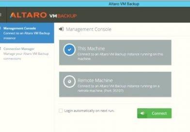 Altaro VM – Erstes Backup